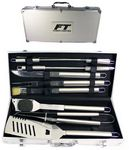 Custom 10 Piece Stainless BBQ Tool Set w/ Aluminum Case