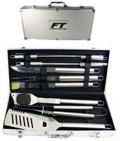 10 Piece Stainless BBQ Tool Set w/ Aluminum Case