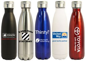 61048e6865 16 Oz. Stainless Steel Vacuum Insulated Thermal Bottle - AT675 - IdeaStage  Promotional Products