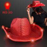 Custom Red Sequin Cowboy Hat