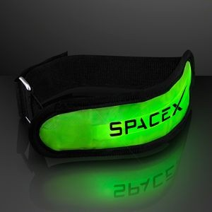 Light Up Neon Green LED Arm Band for Night Runs