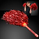 Red Team Spirit Light Up Pom Poms