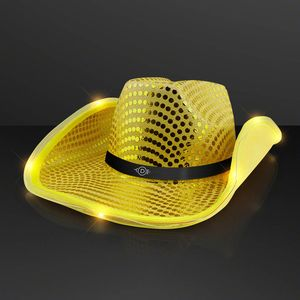0ac31b1cd0b3b Shiny Gold Cowboy Hat with Light Brim - 11832-GD-60 - IdeaStage Promotional  Products