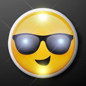Custom Cool Dude Sunglasses Emoji LED Party Pins