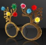 Christmas Reindeer Antler Novelty Glasses (NON-Light Up)