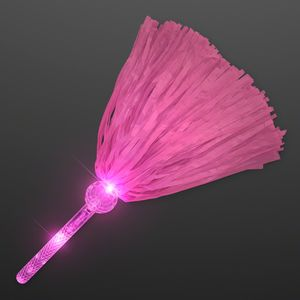 Light Up Team Spirit Pink Pom Poms