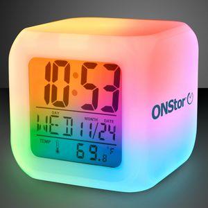 Imprinted Light Up Color Change LED Digital Alarm Clock
