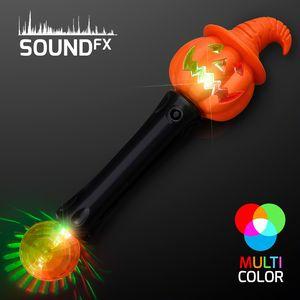 Custom LED Witchy Pumpkin Wand w/Sound & Lights