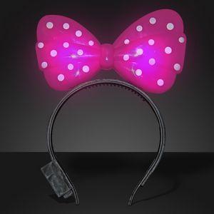 Custom Light Up Pink Big Bow Headband