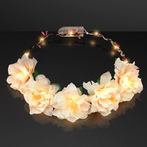 Promotional Product - Warm White LED Flower Halo Crown