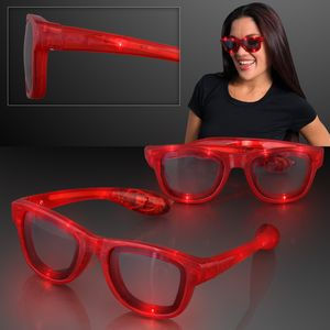 LED Flashing Cool Shade Red Sunglasses