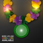 Custom Mardi Gras Lei Light Up Flower Necklace