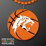 Custom Basketball Medallions With J Hooks For Beads (NON-Light Up)