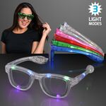 LED Flashing Cool Shade Party Glasses - BLANK