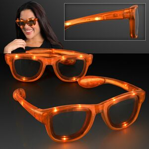 LED Flashing Cool Shade Orange Sunglasses