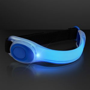 Deluxe Blue LED Armbands - BLANK