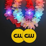 Custom Light Up Hawaiian Leis with Custom Yellow Medallion