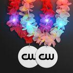 Custom Light Up Hawaiian Leis with Custom White Medallion
