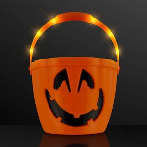 Custom Pumpkin Light Handle Halloween Bucket