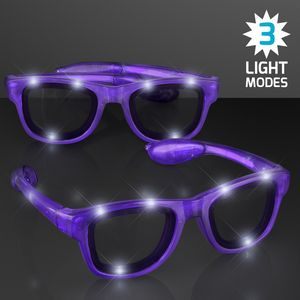 Purple Shades LED Party Sunglasses