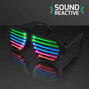 Rechargeable Sound Reactive LED Rave Glasses