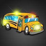 Custom Flashing School Bus Pin - BLANK