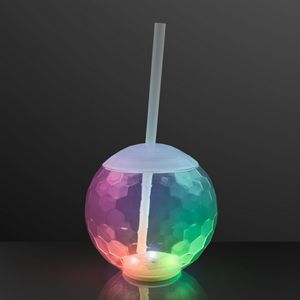 Custom Light Up Ball Tumbler Glass, Disco Party Cups