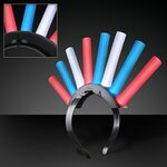Light Up Foam Mohawks (Red/White/Blue LEDs) - BLANK