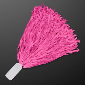 Economy Pink Pom Poms (Non-Light Up) - BLANK