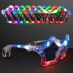 Assorted Color Flashing LED Star Shaped Sunglasses