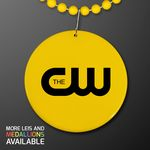 Custom Yellow Medallion with Beaded Necklace (Non Light Up)
