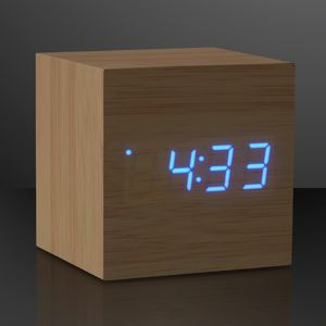 Custom Blue LED Cube Alarm Clock With USB
