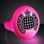 Custom Imprinted LED Pink Flash Glow Ring