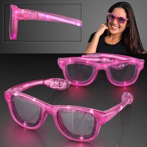 LED Flashing Cool Shade Pink Sunglasses - BLANK