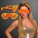 Orange Light Up Slotted Sunglasses