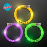 Custom LED Mardi Gras Flash Bracelets, Assorted Purple, Green & Gold