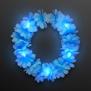 Custom Light Blue Flower Festival Crown