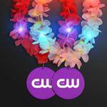 Custom Light Up Hawaiian Leis with Custom Purple Medallion