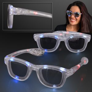 Custom Red White & Blue Cool Shades LED Sunglasses