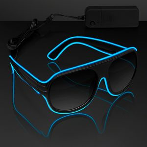 Blue Aviator EL Shades - BLANK