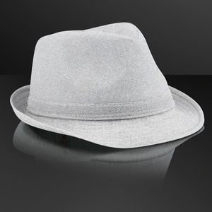 Custom Snazzy Silver Fedora Hat (NON-Light Up)