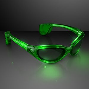 Green Light Up Sunglasses