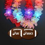 Custom Light Up Hawaiian Leis with Custom Football Medallion
