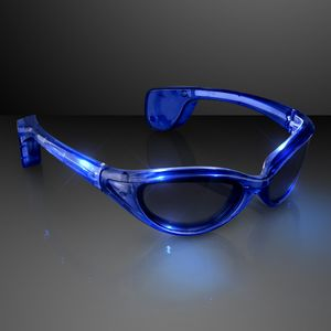 Blinking Blue Sunglasses