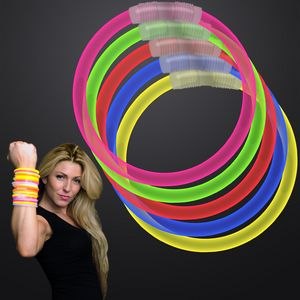Custom Assorted Color 8 inch Glow Bracelet