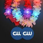 Custom Light Up Hawaiian Leis with Custom Blue Medallion