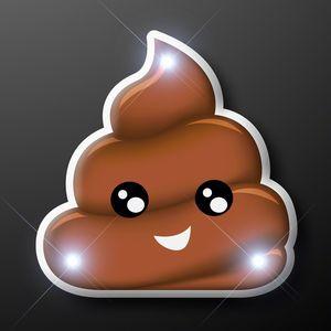 Poop Emoji LED Pins - BLANK