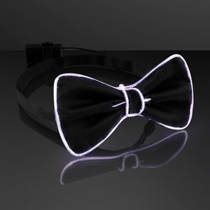 Custom Chill White EL Wire Glow Bow Ties, Wedding Accessories