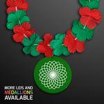 Custom Green & Red Flowers Leis (Non-Light Up)
