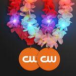 Custom Light Up Hawaiian Leis with Custom Orange Medallion